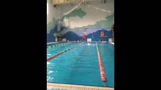 Тёмка в бассейне. Открытый урок.(2)