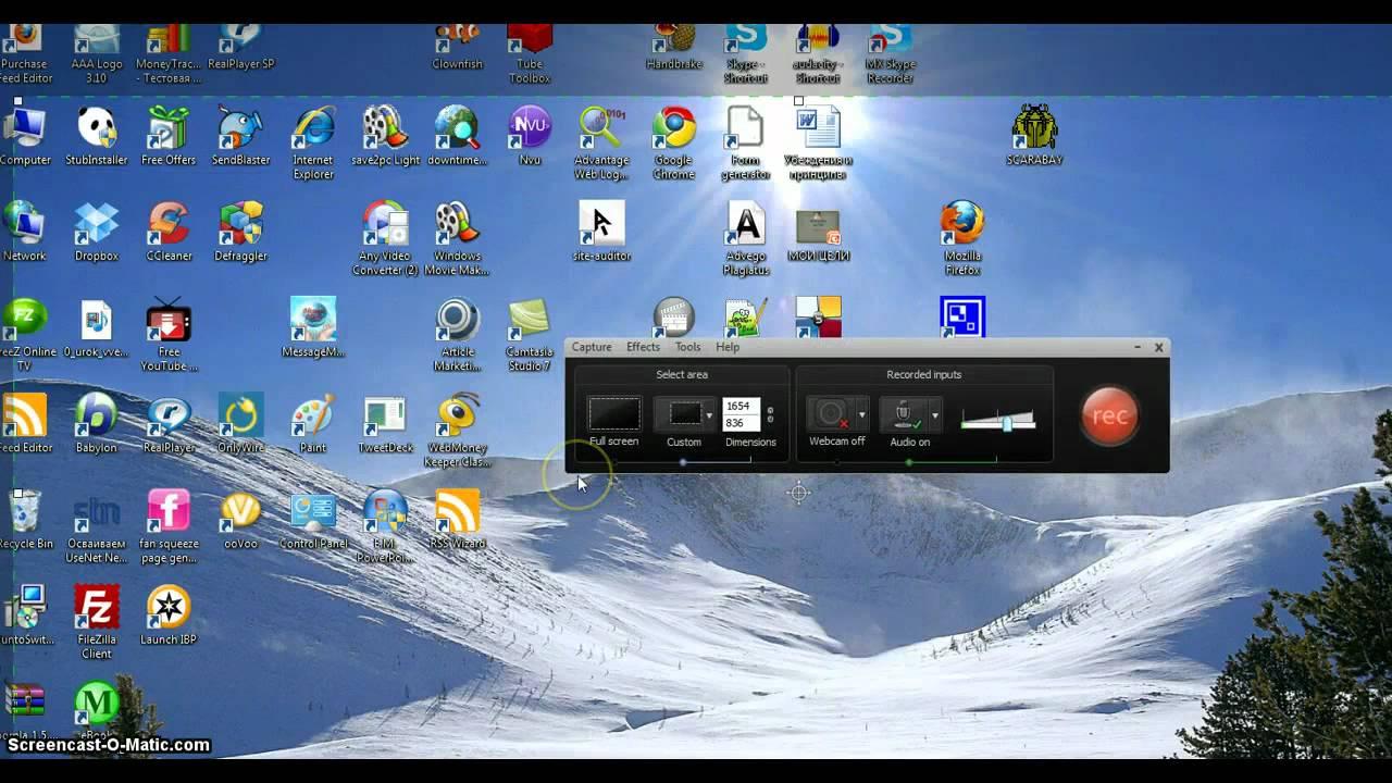 Скачать программы для снимания экрана и игр видео