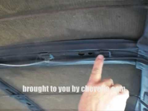 Techtip 1964 72 Headliner Bow Clips Chevelle YouTube
