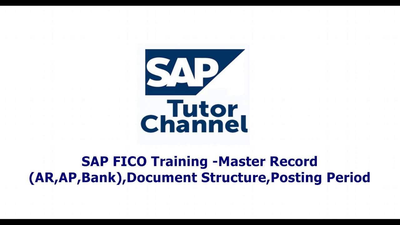 SAP FICO Training  Master Record AR,AP,Bank,Document Structure,Posting Period Variant,GL Documents