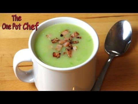 Potato, Pea and Bacon Soup | One Pot Chef
