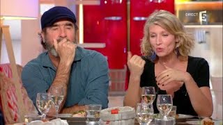 Alexandra Lamy et Eric Cantona au dîner - C à Vous - 13/11/2017