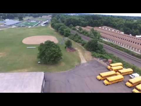 Perry hights school massillon Ohio - aerial video