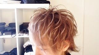 【プロ仕様の】プロのイケメンヘアメイクさんに髪をセットしてもらった!!【メンズセット】