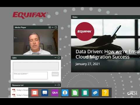 Equifax Canada's Data Driven Webinar: How we're Ensuring Cloud Migration Success
