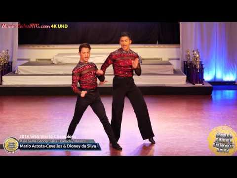 WSS16 Professional Male Same Gender Salsa World Champions Mario Acosta Cevallos & Dioney da Silva