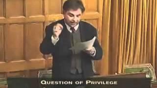 Frank Valeriote's speaks on a Point of Privilege regarding KAIROS funding cuts