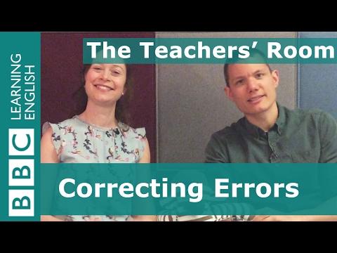 The Teachers' Room: Correcting errors