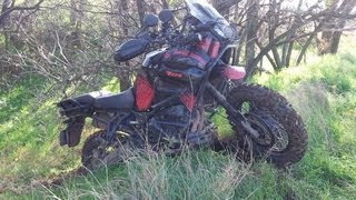 YAMAHA XTZ 1200 Super Tenere off-road action
