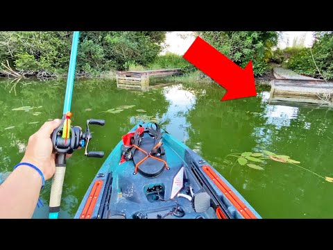 Unexpected Catch While Fishing HIDDEN Canal! (Kayak Fishing)