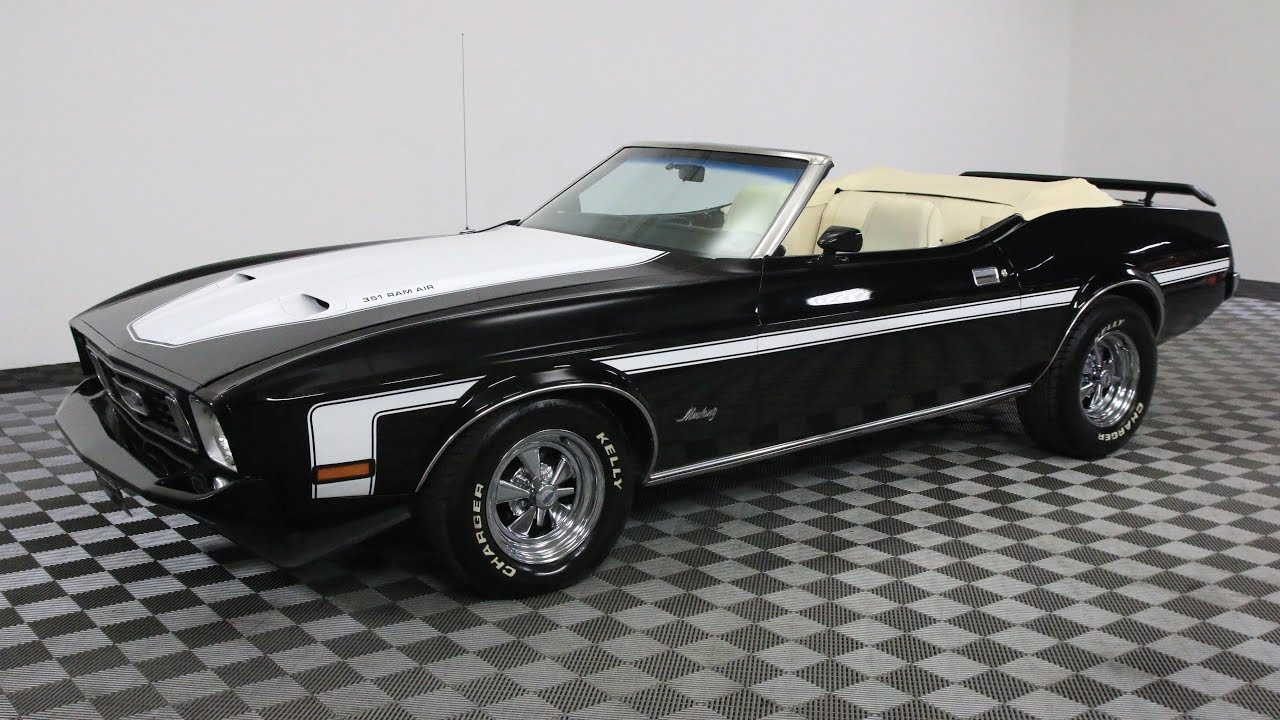 1973 ford mustang convertible black