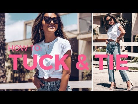 How To Tuck In & Tie Your Tops | Style Hacks