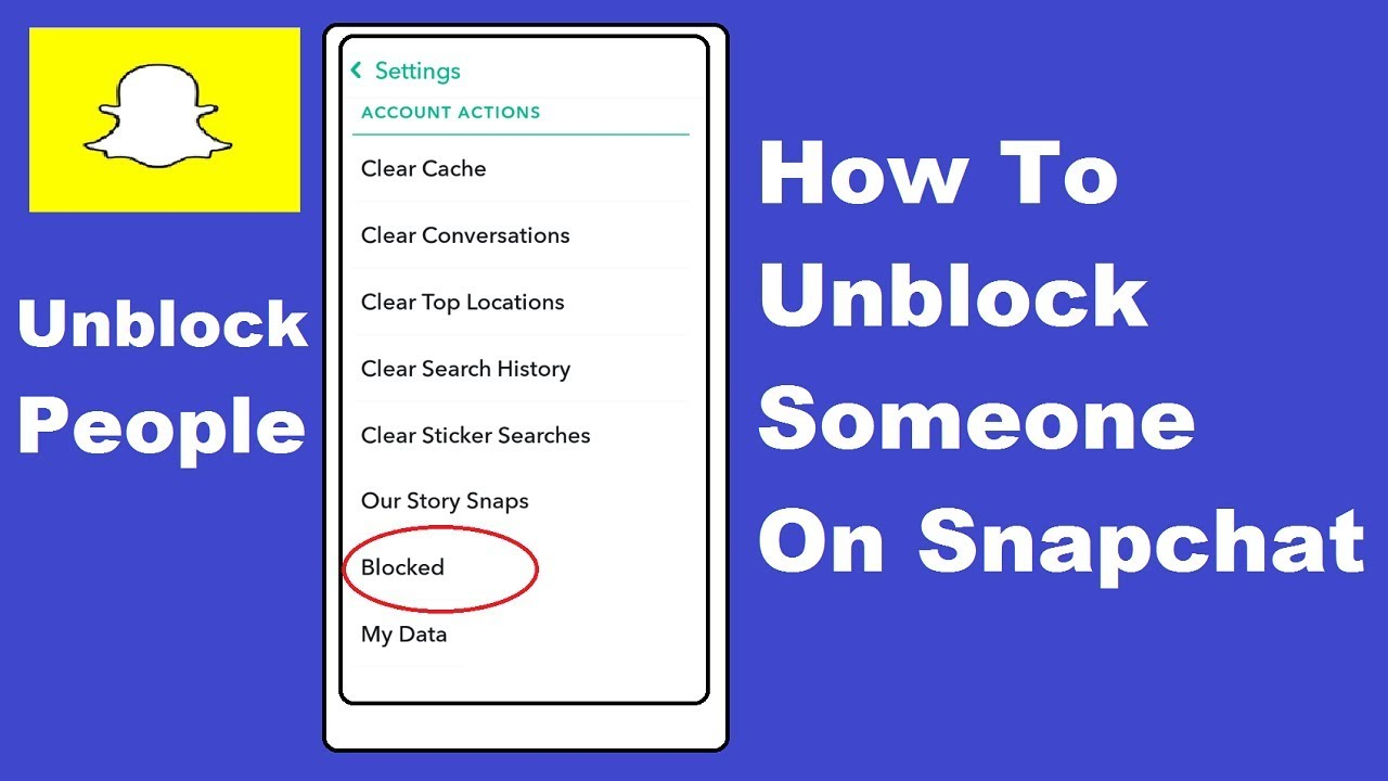 To snapchat on how yourself unblock How can