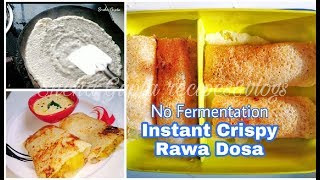 Instant Rawa/Suji Dosa  10 min easy Dosa recipe  Kids lunch box idea  Breakfast Recipe