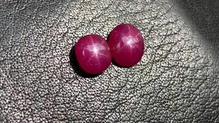 Đá ruby sao yên Bái - 3ct và 2,4ct - giá mềm tương đối đẹp - IRUBY