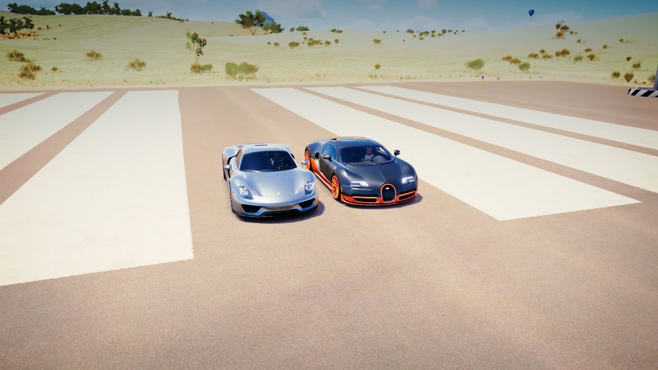 bugatti veyron ss vs porsche 918 spyder drag race forza horizon 3 youtube. Black Bedroom Furniture Sets. Home Design Ideas