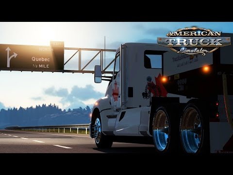American Truck Simulator: Weekend In Canada - Montreal To Quebec - 1 Of 4