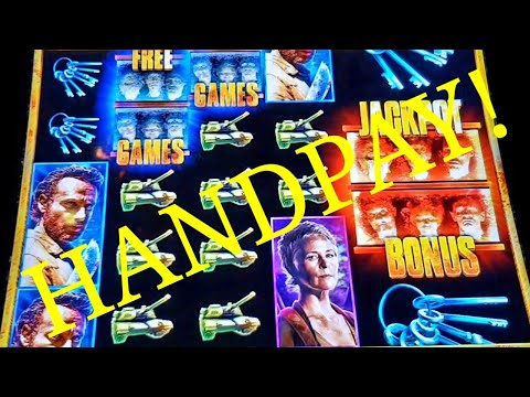 Walking Dead 2 Slot JACKPOT HANDPAY! $1.50 Bet (Plaza Hotel & Casino Las Vegas, 8th January 2019)