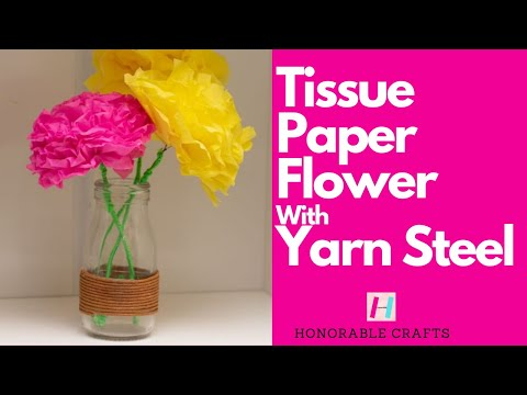 Stunning and Easy Paper Tissue Flower DIY