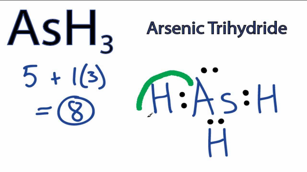 Ash3 Lewis Structure  How To Draw The Lewis Dot Structure For Arsenic Trihydride