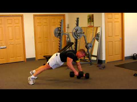Renegade Row | Dumbbell Push Up Row for Chest & Pec Growth