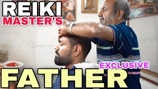 ASMR head massage with neck cracking by Reiki Master's FATHER | Description.