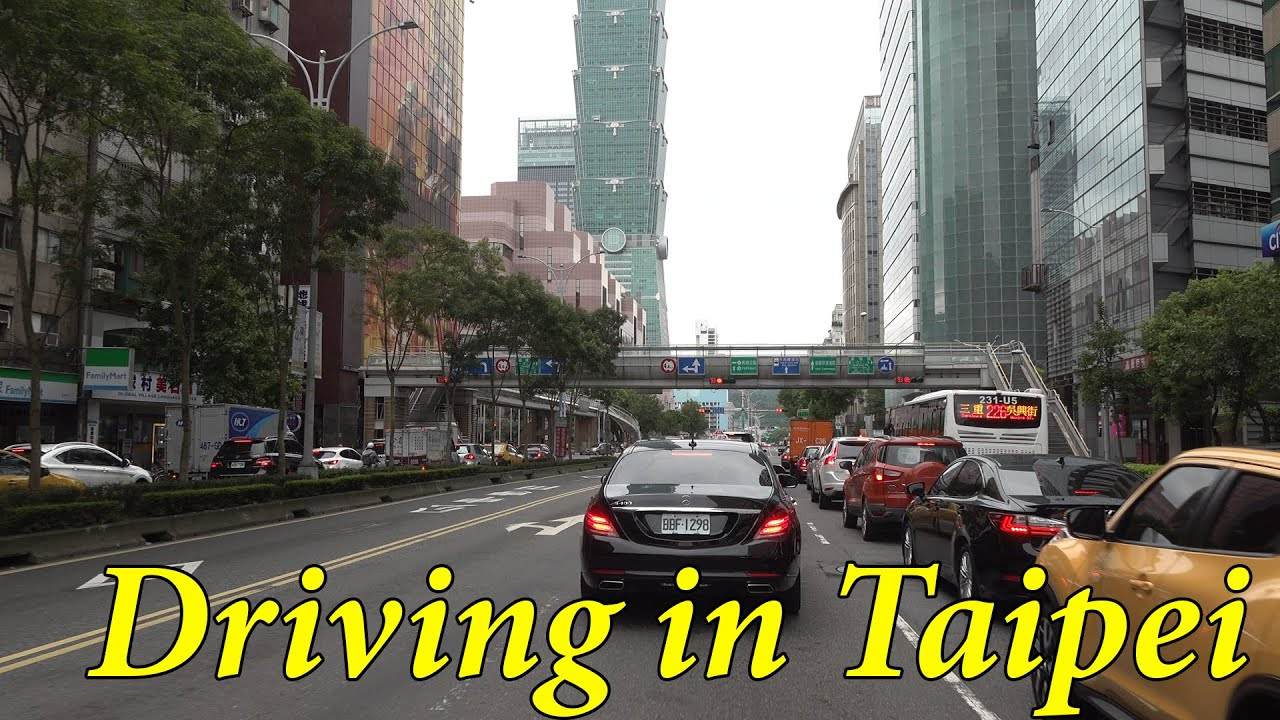 Driving in Taipei Taiwan 4K.