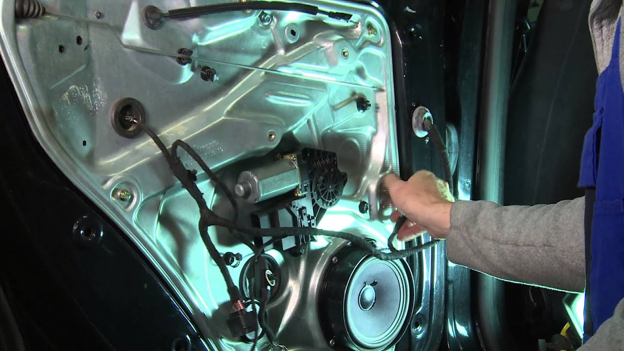 замена мотор стеклоподъемника на фольксваген поло