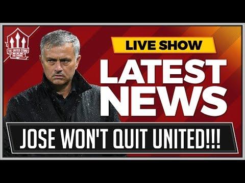 MOURINHO Won't QUIT Manchester United! MAN UTD News