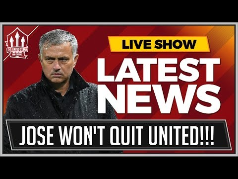 MOURINHO Won't QUIT Manchester United! MAN UTD News