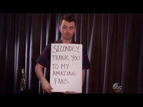 Sam Smith Hilariously Channels 'Love Actually' With Billboard Acceptance Speech