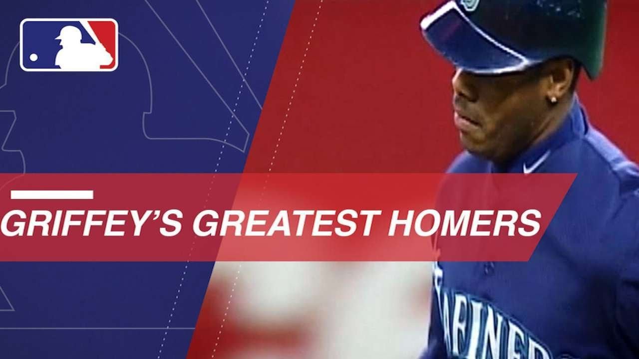 b4e58ab3bd Ken Griffey Jr.: Home run from every year - YouTube