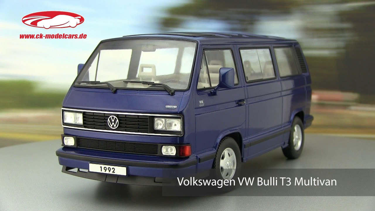 ck modelcars video volkswagen vw bulli t3 multivan last. Black Bedroom Furniture Sets. Home Design Ideas
