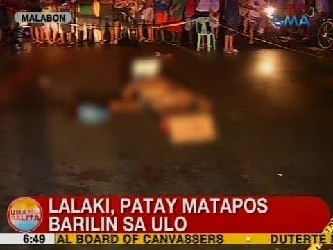 UB: Lalaki, patay matapos barilin sa ulo sa Malabon