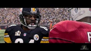 Madden 16 Opening Gameplay - Steelers vs Cardinals Superbowl 50