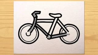 Видео с велосипедами.  рисуем велосипед(Видео с велосипедамиПишут