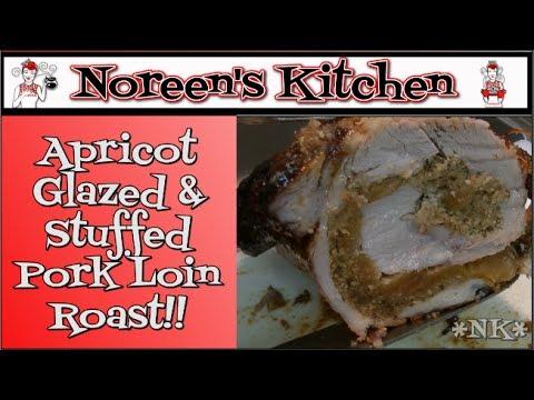 Apricot Glazed Stuffed Pork Loin Roast Recipe Noreen S Kitchen