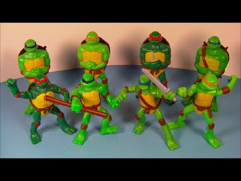 2007 TEENAGE MUTANT NINJA TURTLES SET OF 8 McDONALD
