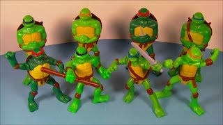 2007 TEENAGE MUTANT NINJA TURTLES SET OF 8 McDONALD'S HAPPY MEAL KID'S TOY'S VIDEO REVIEW