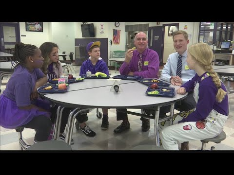 Ron and Jake try Crispitos at College View Middle School