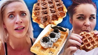 Trying INSTA FAMOUS Waffles!