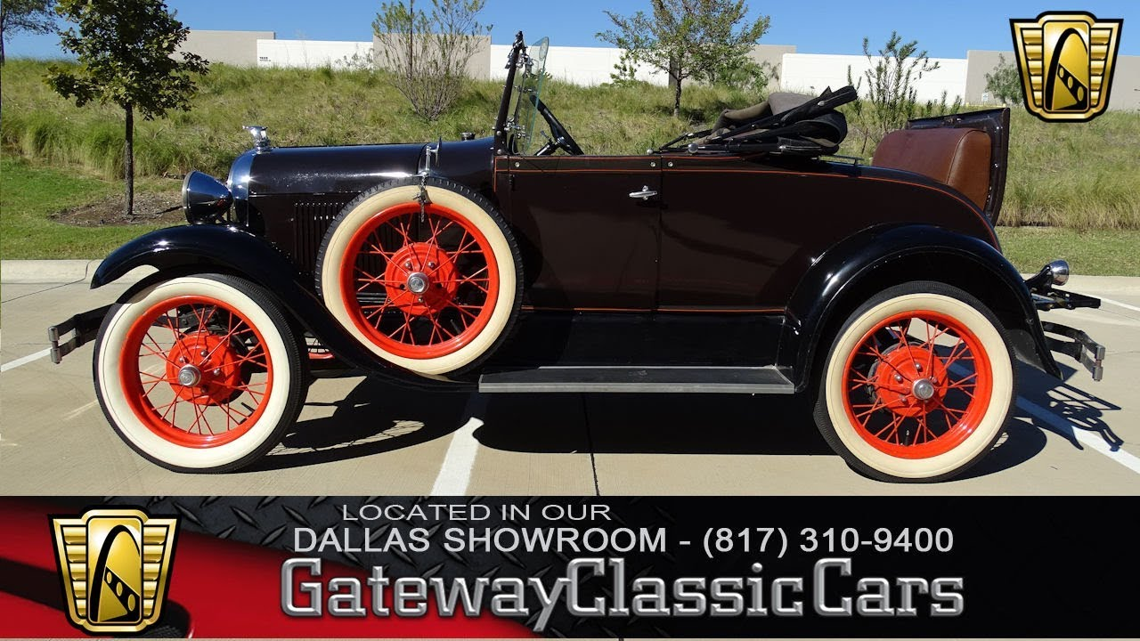 1929 Ford Model A #533-DFW Gateway Classic Cars of Dallas - YouTube