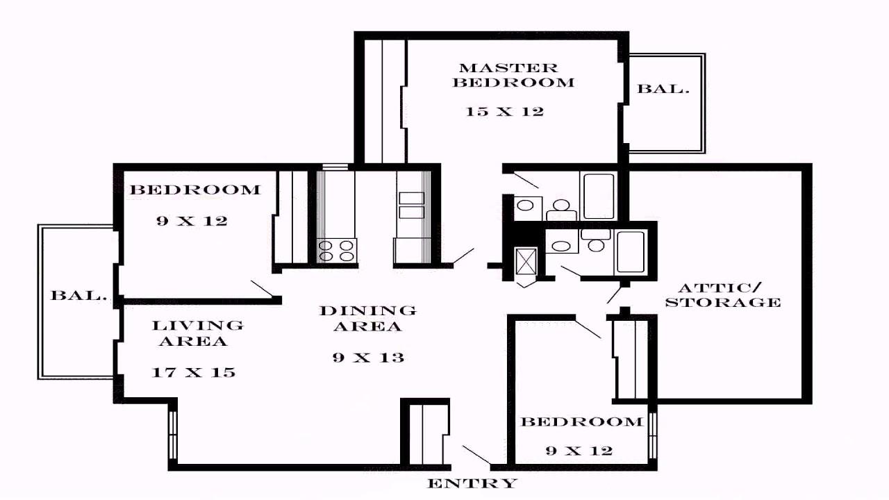 3 bedroom house floor plan dimensions youtube for 3 bedroom floor plan with dimensions pdf