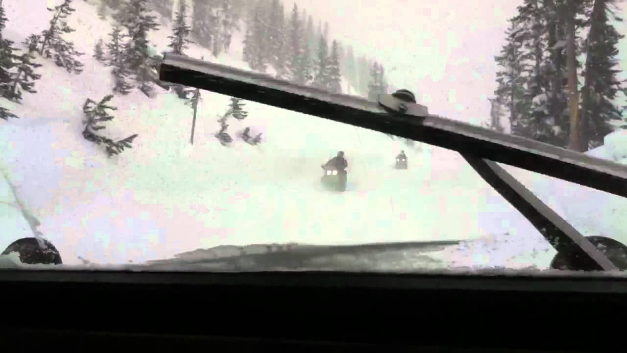 Bombardier Snowcoach Scenes Yellowstone Feb  2011