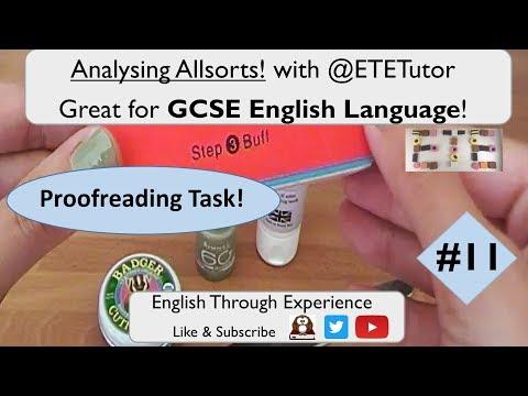 GCSE English Language - Analysing Allsorts with ETETutor! Nail Buffer | Proofreading Task 1 #11