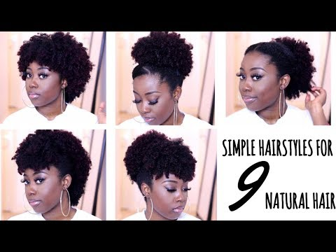 9 QUICK HAIRSTYLES FOR SHORT TO MEDIUM NATURAL HAIR (TYPE 4A/ 4B/ 4C)