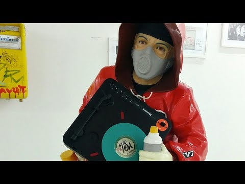 Dj Samy - Portablist at the Museum of Contemporary Art in Marseille, France.