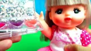 メルちゃんプリンセスソフィアのコスメでメイクアップ♪おもちゃアニメままごと