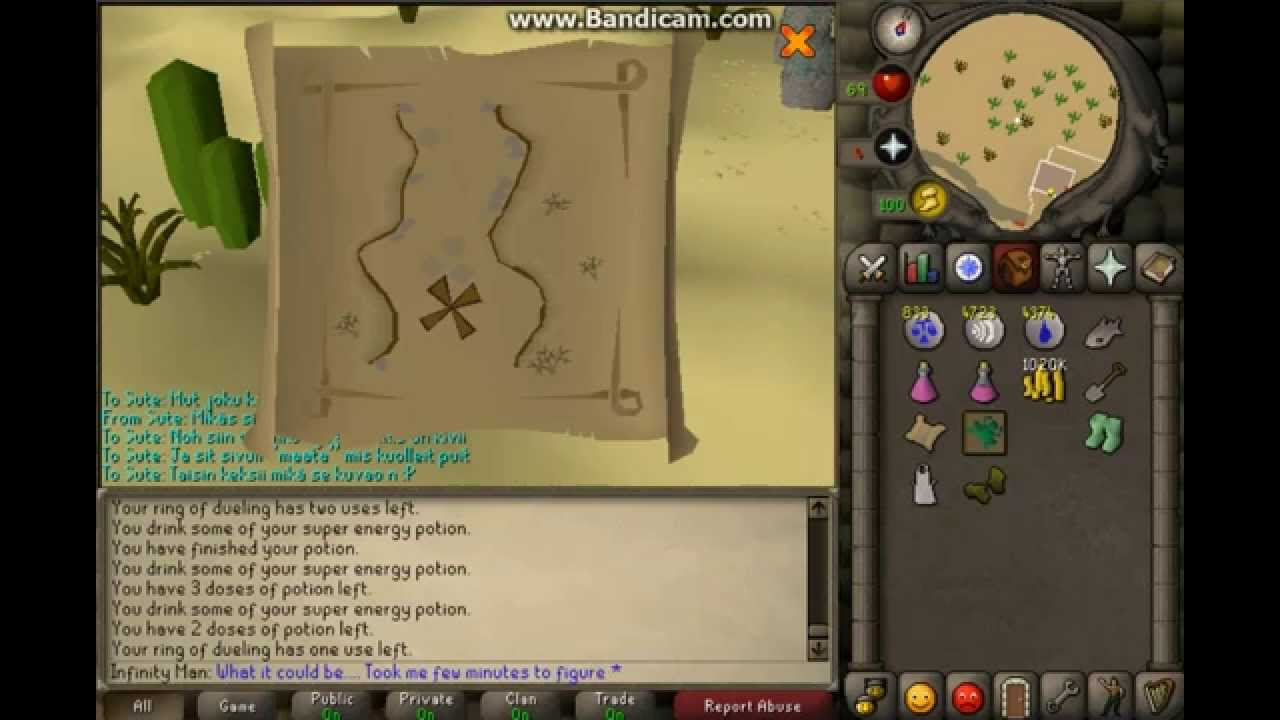 runescape 2007 new easy clue scroll map location youtube