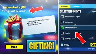 *NEW* Gifting Items is FINALLY in Fortnite! (Fortnite Gifting System)